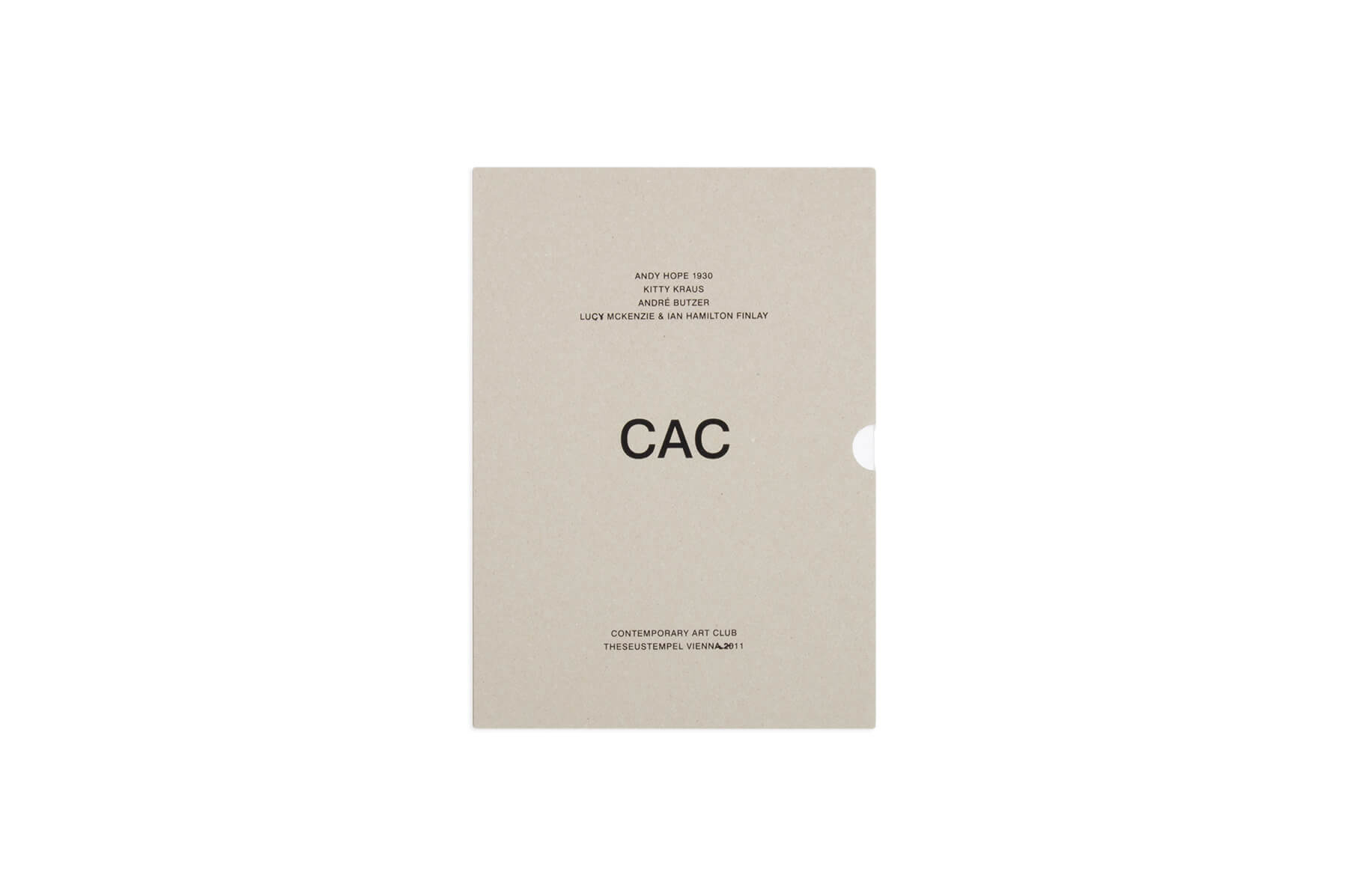Product image of CAC – Andy Hope 1930, Kitty Kraus, André Butzer, Lucy McKenzie & Ian Hamilton Finlay