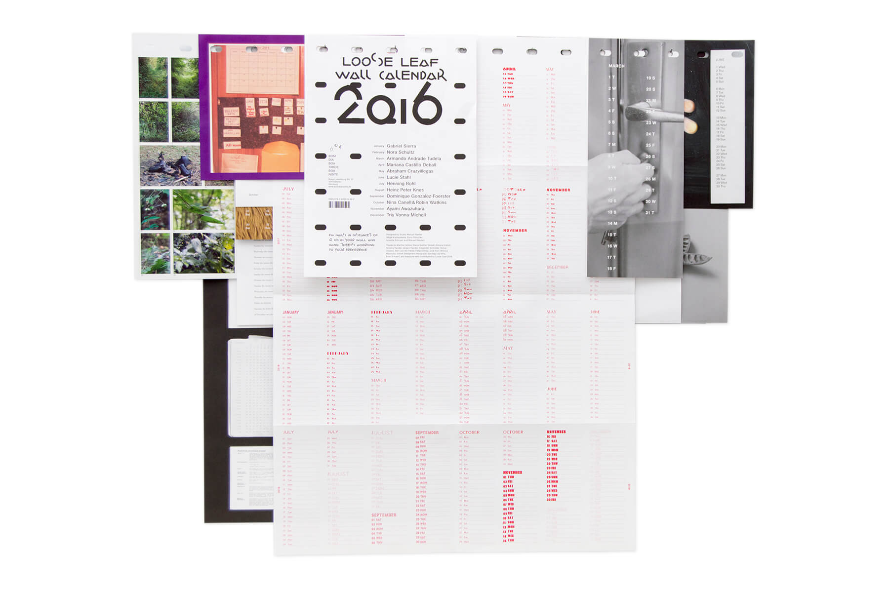 Product image of Loose Leaf Wall Calendar 2016