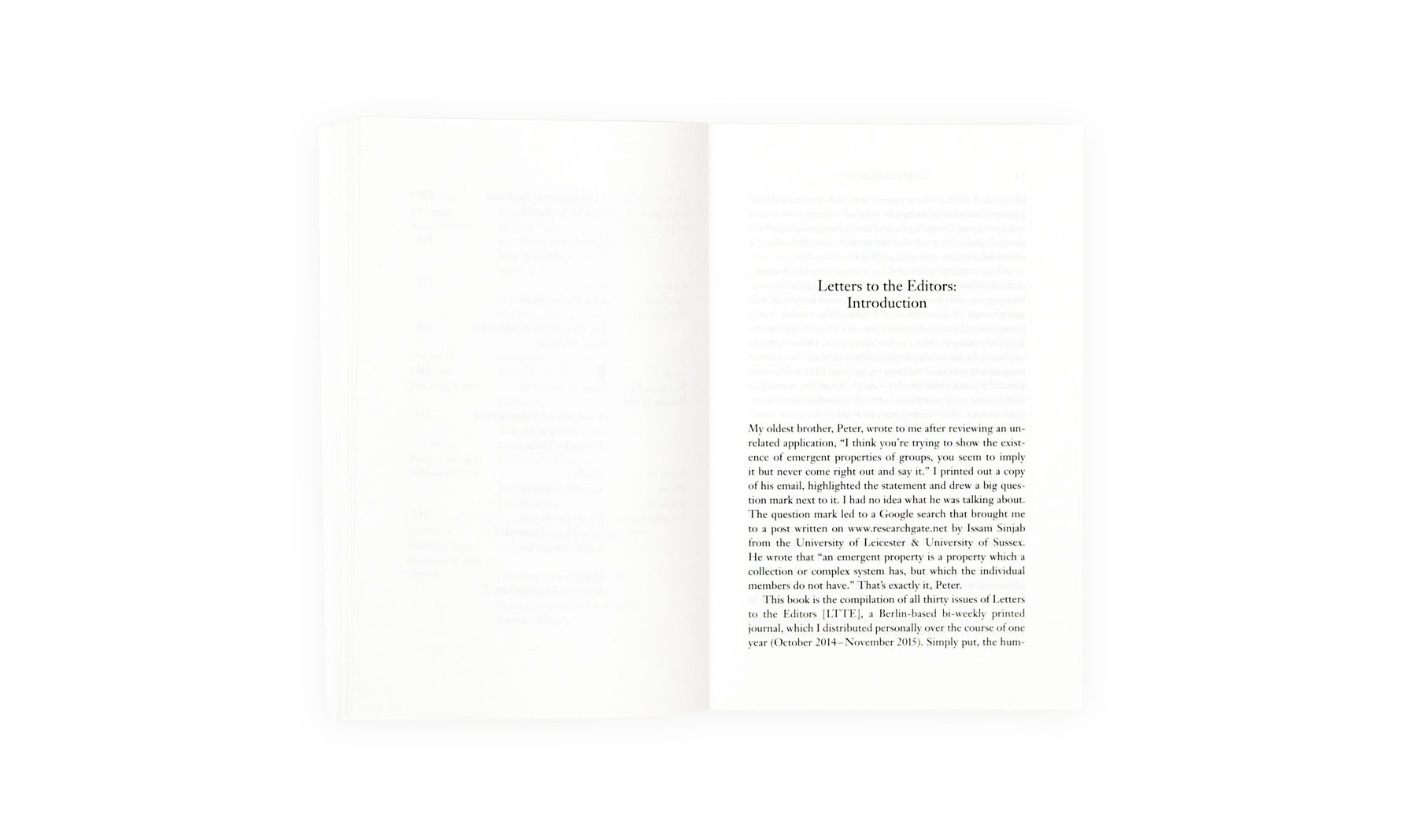 Product image of Letters to the Editors. A Journal